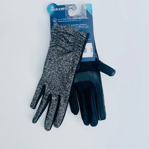 Gray Isotoner Gloves Tech Touch Gloves
